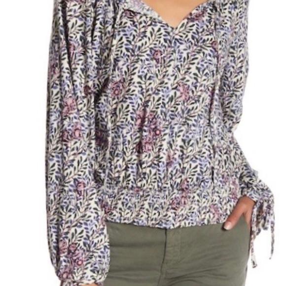 b5017029ccfd4d Lucky Brand Tops | Womens Banded Bottom Floral Blouse | Poshmark
